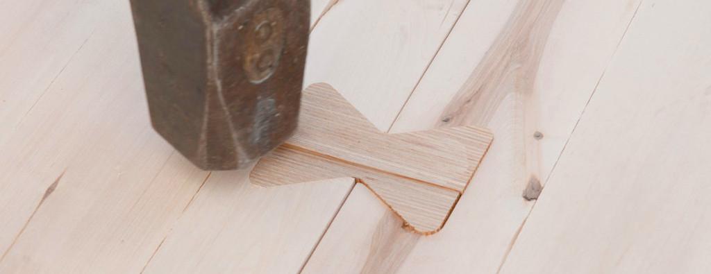 X-fix C Holz - Holz Verbinder werden nur mit dem Hammer eingeschlagen.