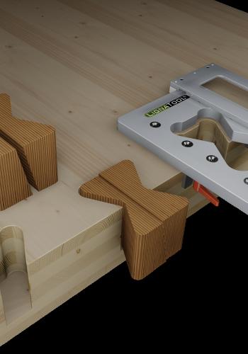 X-Fix C Starter Set mit Lignatool Schablone und 96 Stück X-fix C 90